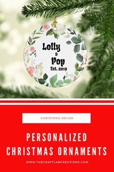 Personalized Christmas ornament for grandparents will be the perfect gift this Christmas season. We all have special names for our grandparents why not gift them such an ornament to express your love for them. Personalized Family Gifts, Personalized Christmas Ornaments, Christmas Tree Decorations, Christmas Tree Ornaments, Christmas Quotes Jesus, Christmas Inspiration, Grandparents, Gifts For Mom, Names