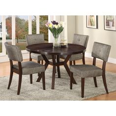 modern espresso gray table and chair kitchen dining set