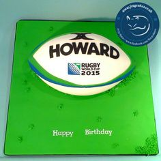 Rugby themed Birthday Cake, made by The Foxy Cake Company!