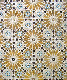 Tile mosaic from the Alhambra.