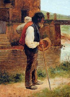ALMEIDA JÚNIOR - Ponte da Rua Tabatinguera Óleo sobre tela - 40 x 30 - 1889