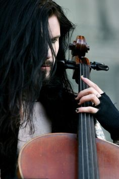 Perttu Kivilaakso, Apocalyptica...these guys rock and are all super hot swingin all that hair and sawing on some cellos.