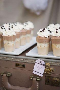 Tiramisu in a cup!  Perfect wedding dessert idea!  ~  we ❤ this! moncheribridals.com