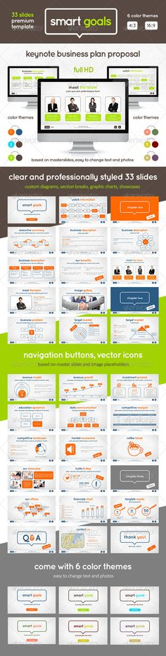 SocialFactor Powerpoint And Keynote Templates By Kh Studio - Keynote business plan template