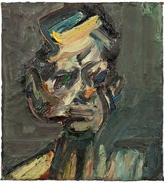 Frank Auerbach (British, b. 1931), Portrait of David Landau, 1985-86. Oil on canvas, 45.7 x 40.6 cm.