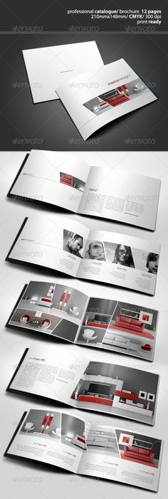 Clean Catalogue Catalog Brochure Template by Book Design Layout, Print Layout, Brochure Layout, Brochure Design, Brochure Template, Portfolio Layout, Portfolio Design, Web Design, Print Design