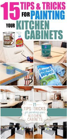 '15 tips and tricks for painting kitchen cabinets'.  Me, Yvonne--I've been painting since I was a kid.  I'm NOT kidding. I've done SO many kitchens and furniture and rooms and stuff my head spins like a top.  This is a great article for the steps for doing a kitchen.  I even sent it to my pals.