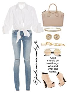 """""""Swaggy 😩😍😍"""" by jestineownstyle ❤ liked on Polyvore featuring Yves Saint Laurent, Johanna Ortiz, Giuseppe Zanotti, Givenchy, Humble Chic, Grace Lee Designs and Kendra Scott"""