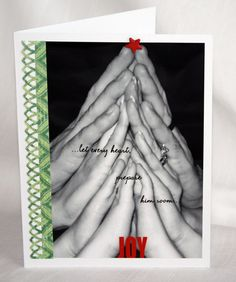 Christmas card made from a family's hands