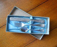 Childs Dinnerware Three Piece Set In Original Box by AlderHillFarm