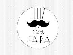 MIS MANUALIDADES CON GOMA EVA Y OTRAS COSITAS: LÁMINAS Y TARJETAS PARA EL DÍA DEL PADRE Daddy Day, Chalkboard Art, Happy Fathers Day, Stickers, Printables, Lettering, Instagram, Father Sday, Decorated Cookies