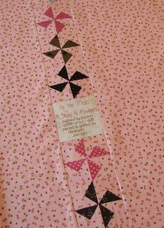 Label on a quilt back