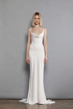 Alya Blanc Maxi Dress Spring Dresses Cowl Neck Wedding Dress, Minimal Wedding Dress, Plain Wedding Dress, Minimalist Wedding Dresses, Elegant Wedding Dress, Dream Wedding Dresses, Elegant Dresses, Silk Wedding Gowns, Designer Wedding Dresses