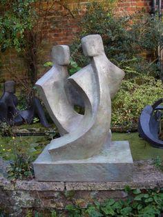 Bronze resin Figurative Public Art Sculptures #sculpture by #sculptor John Brown titled: 'Duo lll' #art