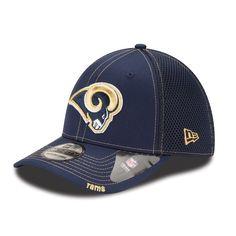 94ff9e067ce Men s Los Angeles Rams New Era Navy Neo 39THIRTY Flex Hat