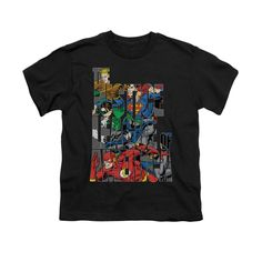 Justice League - Lettered League Youth T-Shirt