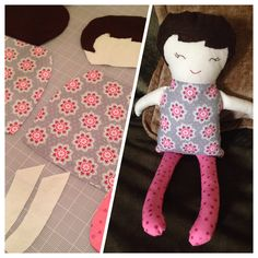 Here is the black apple doll I made for my niece. She really came out so cute! I used a pattern and directions from marthastewart.com