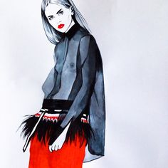 Diana Kuksa, fashion #fashionsketch #fashionillustrator #fashionillustration…