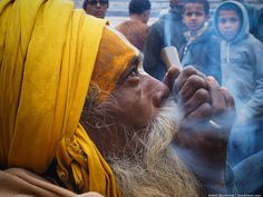 """Mahashivaratri in Pashupatinath by zhushman on Flickr - The great night of Shiva or Mahashivaratri annual festival in biggest Hindu temple in Nepal - Pashupatinath. Thousands of """"sadhus"""" holy pilgrims came from India to celebrate it. Traditionally sadhus smoking marijuana (cannabis) as an act of worshipping to Lord Shiva"""
