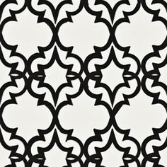 Kreme Handcrafted Collection Painted Gate in Ivory / Black Trellis Wallpaper, Wallpaper Roll, X