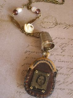 Vintage ladies purse Pendant by Jen Crossley on Etsy, $95.00