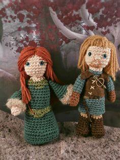 Ned and Catelyn Stark (Game of thrones) amigurumi- Moñacos, cosicas y meriendacenas