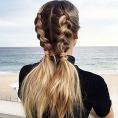 These braids are something else.  @hairbyjaxx bringing us all the summer hair love today. ☀️ Who loves these?  #summerhairgoals #braidcrush #hairenvy #hairgoals