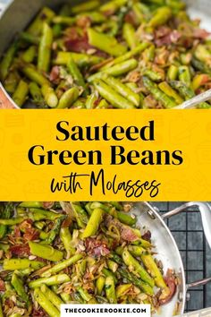 Sautéed Green Beans with Molasses are a slightly sweet yet savory side dish perfect for Thanksgiving, or any dinner throughout the year. Simple and fresh, this easy side dish recipe is so delicious and comforting, and it has just a bit of Southern charm. Ready in 10 minutes! #greenbeans #vegetablesidedish #easysidedish #10minuterecipe #thanksgivingrecipe
