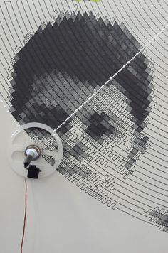 Polargraph drawing robot in action created by the Robots Can crew at Signal 37…