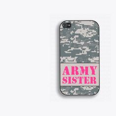 Army Sister iPhone 4 Case  iPhone 4s Case Digital by HumerusWares, $17.99