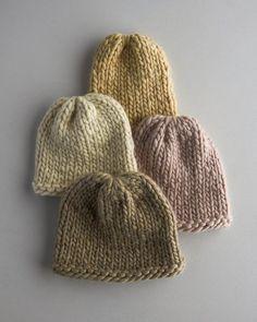 Bonnet à grosses côtes / patron pour tricoter un bonnet / knitting pattern