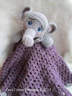 New crochet pattern, Elephant Huggy Baby Blanket