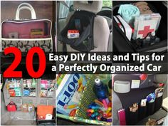 Organizing the car does not have to be difficult or take much time. Best of all, it doesn't have to be expensive. There are a number of DIY tricks that you can use to get your car cleaned up and perfectly organized.