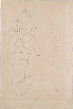 the kiss by egon schiele, 1911