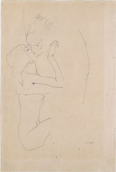 the kiss by egon schiele, 1911