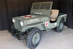 1946 WILLYS JEEP at Barrett Jackson auction/Scottsdale Arizona fully restored to it's old military glory