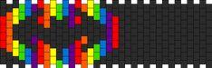 Rainbow Batman Symbol Kandi Pattern
