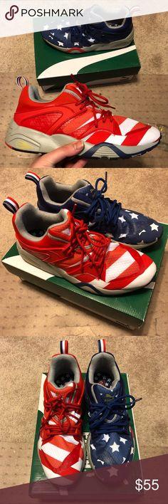 7792306a6a4b Puma BLAZE OF GLORY American Flag Rare Size 9 rare pair of men s puma blaze  of