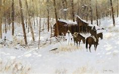 Richard Thomas, Old Mining Camp, Made of oil on canvas kp