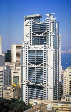 HSBC Building, Hong Kong designed by Norman Foster + Partners, 1985