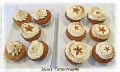 Silvia's Tortenträume: Bratapfel Cupcakes mit Vanillesahne lecker