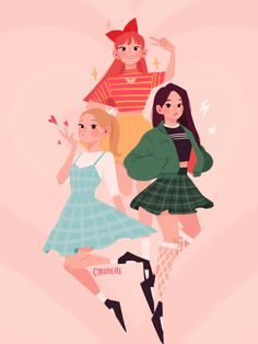 """And so once again, the day is saved! Thanks to the Powerpuff Girls💗✨ Powerpuff Girls Costume, The Powerpuff Girls, Lilo Et Stitch, Bd Art, Ppg And Rrb, Fanarts Anime, Kpop Fanart, Futurama, Cartoon Art"