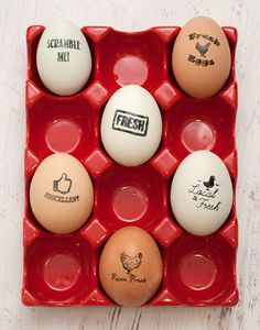 Egg Stamp Chickens Wooden Egg Stamp Fresh Eggs Stamp