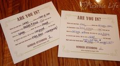 @Tabitha Sigmon: Our DIY Mad Libs Style Wedding RSVP Card - saw this and thought of you!
