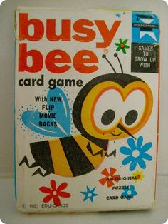 busy bee card game, ca. 1951.