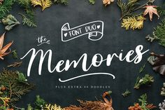 The Memorie Font DUO & Doodle by Nursery art on @creativemarket #font #ad #handwritten