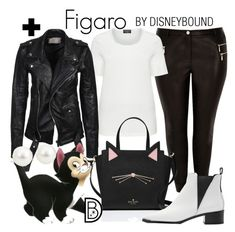 """Figaro"" by leslieakay ❤ liked on Polyvore featuring River Island, Deadwood, Kate Spade, Disney, Acne Studios, disney, disneybound, plussize and disneycharacter"