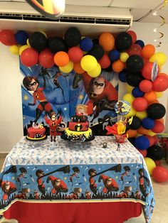 6th Birthday Parties, Baby Birthday, Birthday Party Decorations, Birthday Ideas, Incredibles Birthday Party, Rosalie, First Birthdays, Party Ideas, The Incredibles