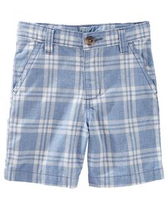 Toddler Boy Plaid Flat-Front Shorts from OshKosh B'gosh. Shop clothing & accessories from a trusted name in kids, toddlers, and baby clothes.