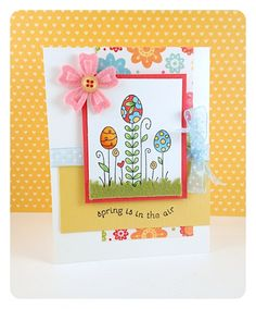 Spring is in the Air Card by Taylor VanBruggen #Spring, #Easter, #Cardmaking